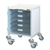Vista 40 Clinical Trolley (Red)