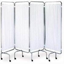 Ward Screen White Plastic Curtain Set
