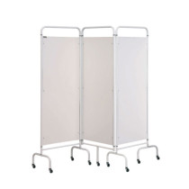 Three Panel Surgery Screen - White
