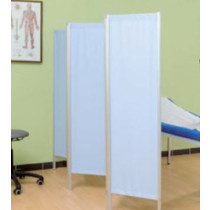 Three Panel Surgery Screen - Light Blue