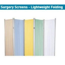 Three Panel Surgery Screen - Beige