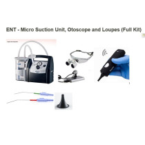 ENT - Micro Suction Unit, Otoscope and Loupes (Full Kit)