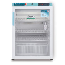 Lec PGRC158UK 158L Glass Door Control Plus Pharmacy Fridge (595mm W x 845mm H x 600mm D)