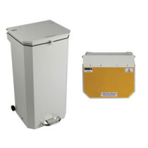 Sunflower 50L Yellow Clinical Waste Disposal Bin