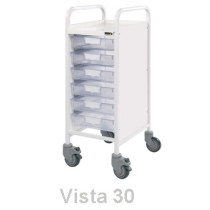 Vista 30 Trolley (6 Clear Trays)