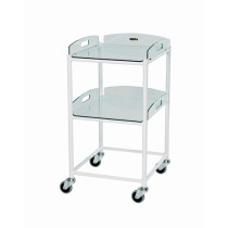 DT4 Dressing Trolley (2 Glass Effect Shelves)
