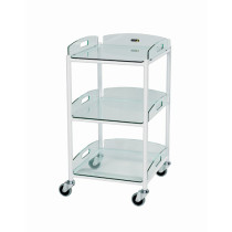 DT4 Dressing Trolley (3 Glass Effect Shelves)