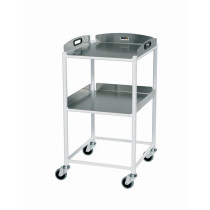 DT4 Dressing Trolley (2 SS Shelves)