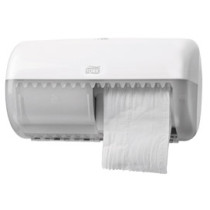 T4 Conventional Twin Toilet Roll Dispenser (White)