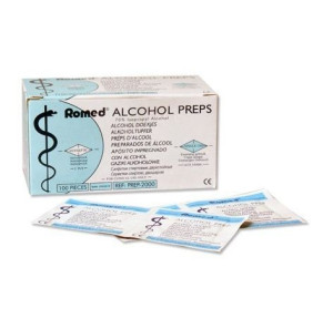 Alcohol Prep Romed 65x30mm Swabs x 10000