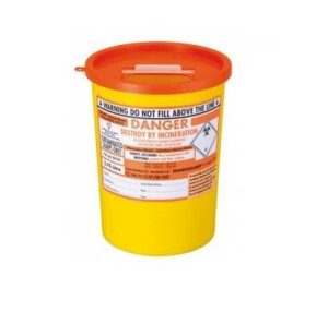 SHARPSGUARD Sharps Bin (3.75L) x 1 orange lid