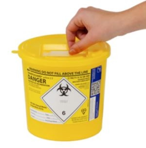 Sharpsguard 2.5L Sharps Bin x 1 yellow lid