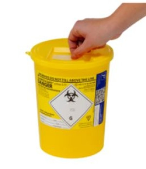 Sharpsguard 3.75L Sharps Bin x 1 yellow lid