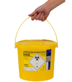 Sharpsguard 7L Sharps Bin x 1 yellow lid