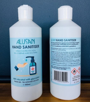 Alusan Hand Sanitizer 500ml Liquid - 80% Alcohol with flip top cap