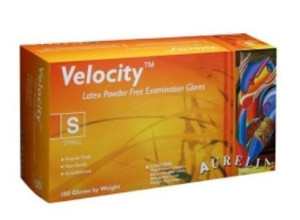 Velocity (AURELIA) Latex Non Sterile Powder Free Gloves (Large x 100)