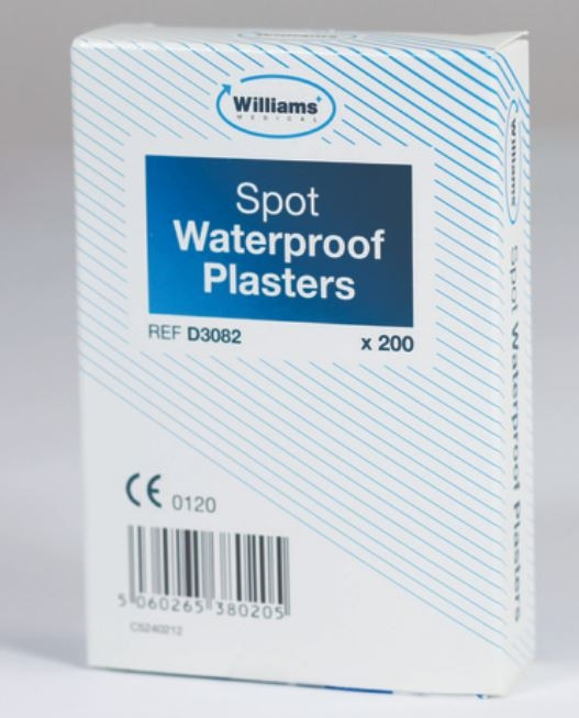 Spot Plasters Waterproof box of 200