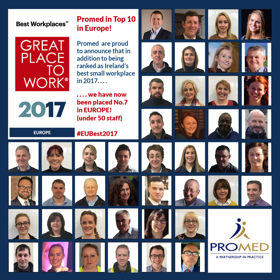 Promed Great Place To Work Europe 2017