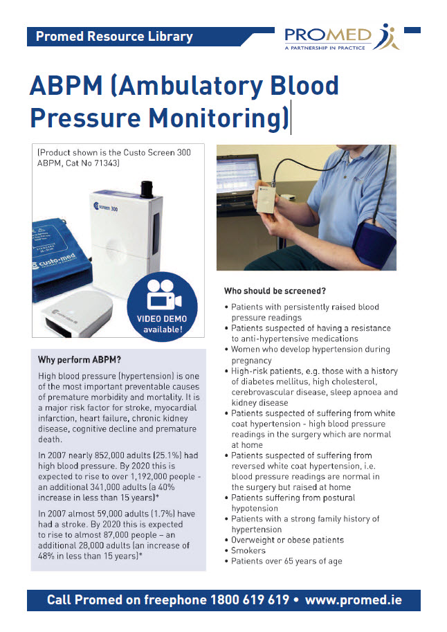 ABPM Ambulatory Blood Pressure Monitoring