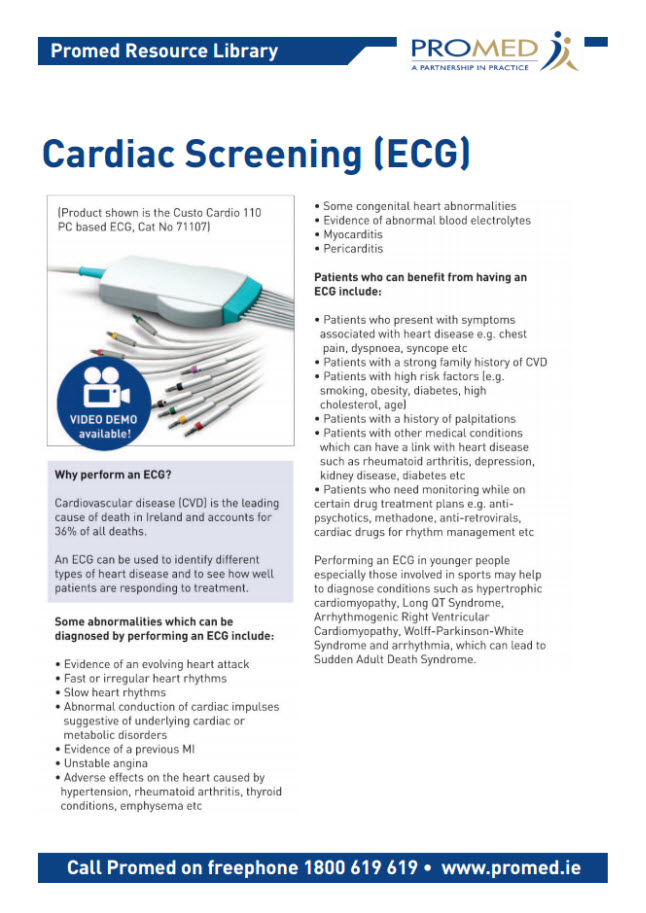 Cardiac Screening ECG