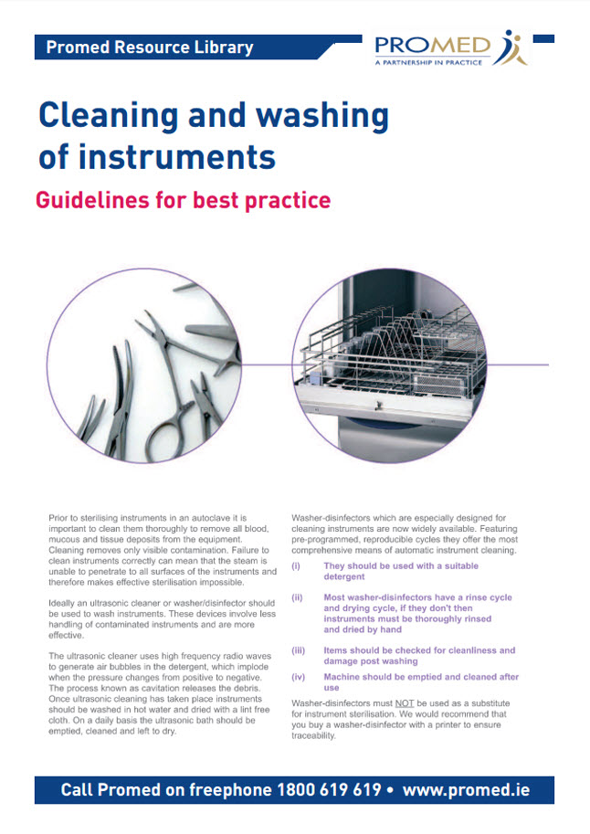 Cleaning and Washing of instruments