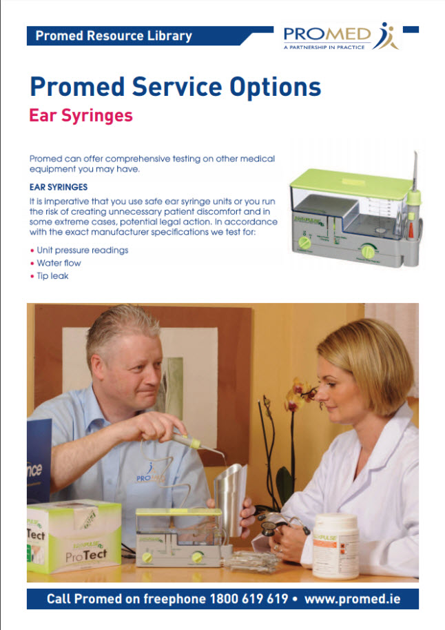EAR SYRINGE SERVICING