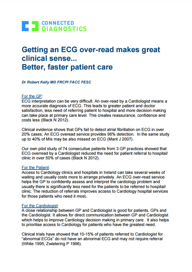 GETTING AN ECG OVER-READ MAKES GREAT CLINICAL SENSE