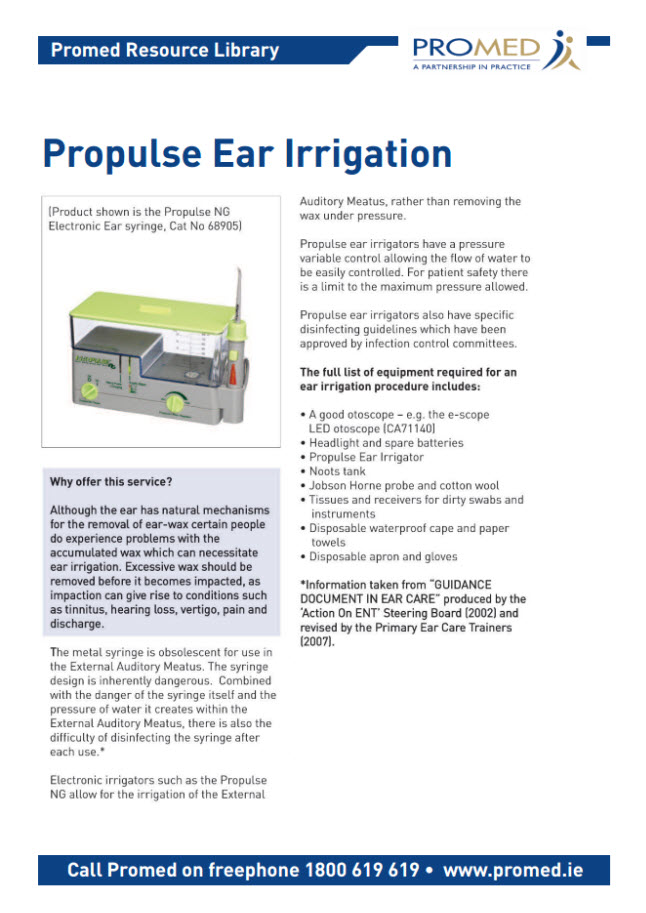 Propulse Ear Irrigation