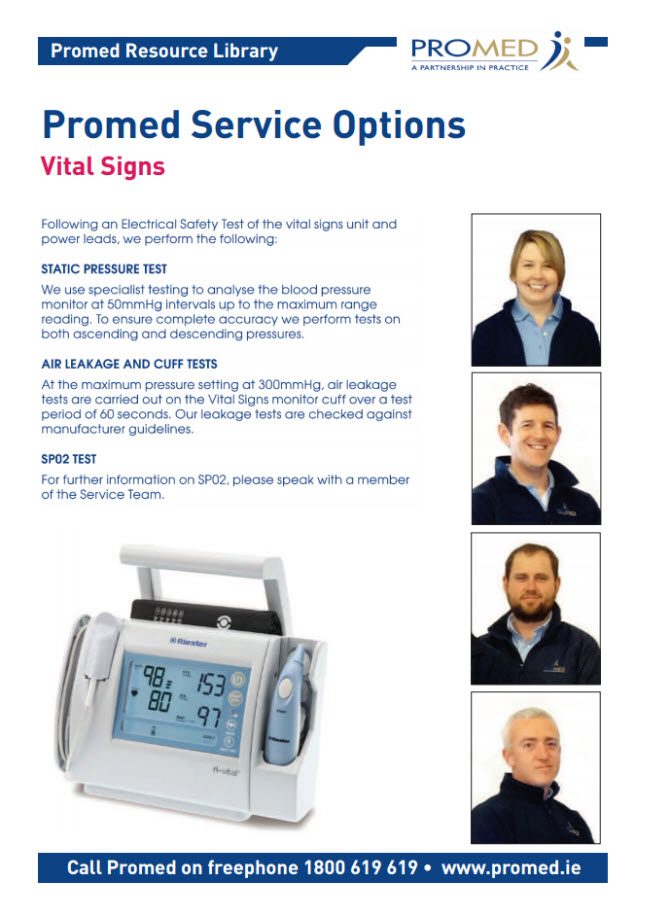 Vital Signs Servicing options
