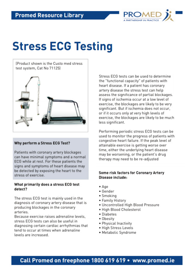 Why perform a Stress ECG Test
