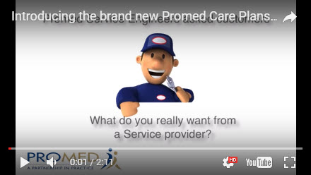 Promed equipment care plans