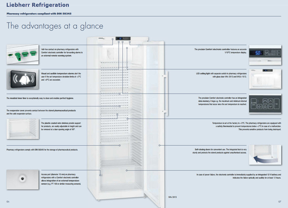 liebherr pharmacy refrigeration advantages